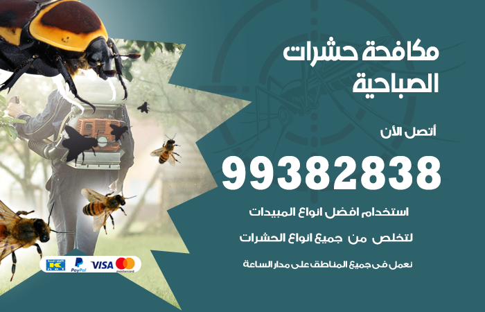 مكافحة حشرات الصباحية / 99382838 / أفضل شركة مكافحة حشرات في الصباحية