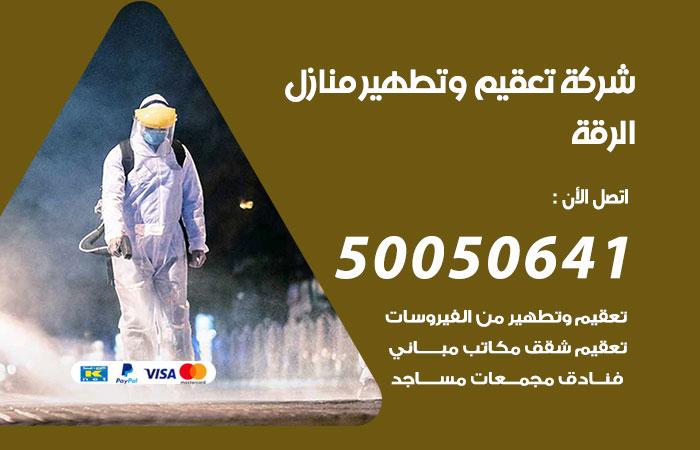 شركة تعقيم منازل الرقة / 50050641 / تعقيم وتطهير المنازل من فيروس كورونا