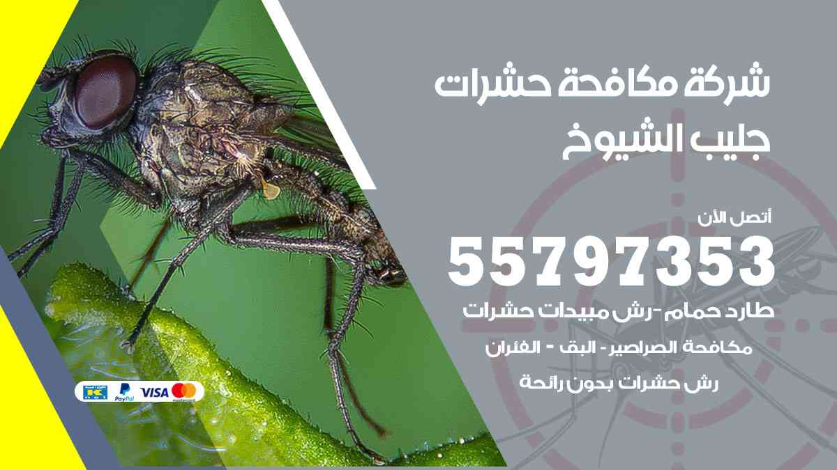 شركة مكافحة حشرات وقوارض جليب الشيوخ / 50050647 / رش الصراصيروالبق والفئران