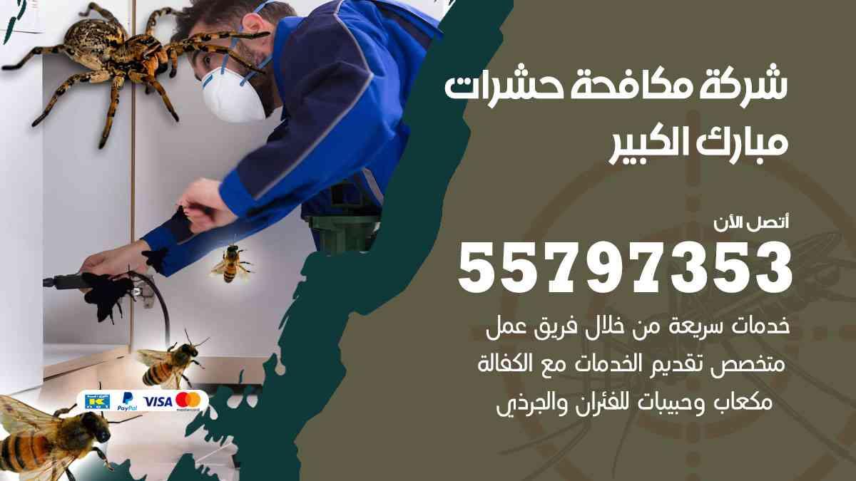 شركة مكافحة حشرات وقوارض مبارك الكبير / 50050647 / رش الصراصيروالبق والفئران